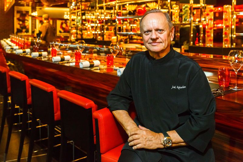 L'Atelier de Joël Robuchon with Chef Joël Robuchon   Photo: Alex Staniloff