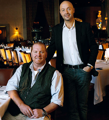 Chef Mario Batali and Joe Bastianich of B&B in Del Posto