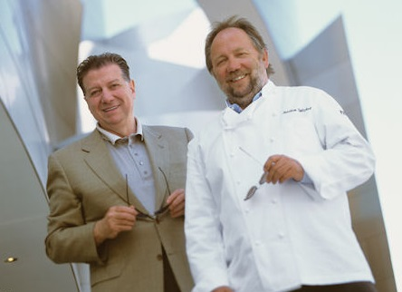 Patina Restaurant Group's founders, Nick Valenti and Chef Joachim Splichal
