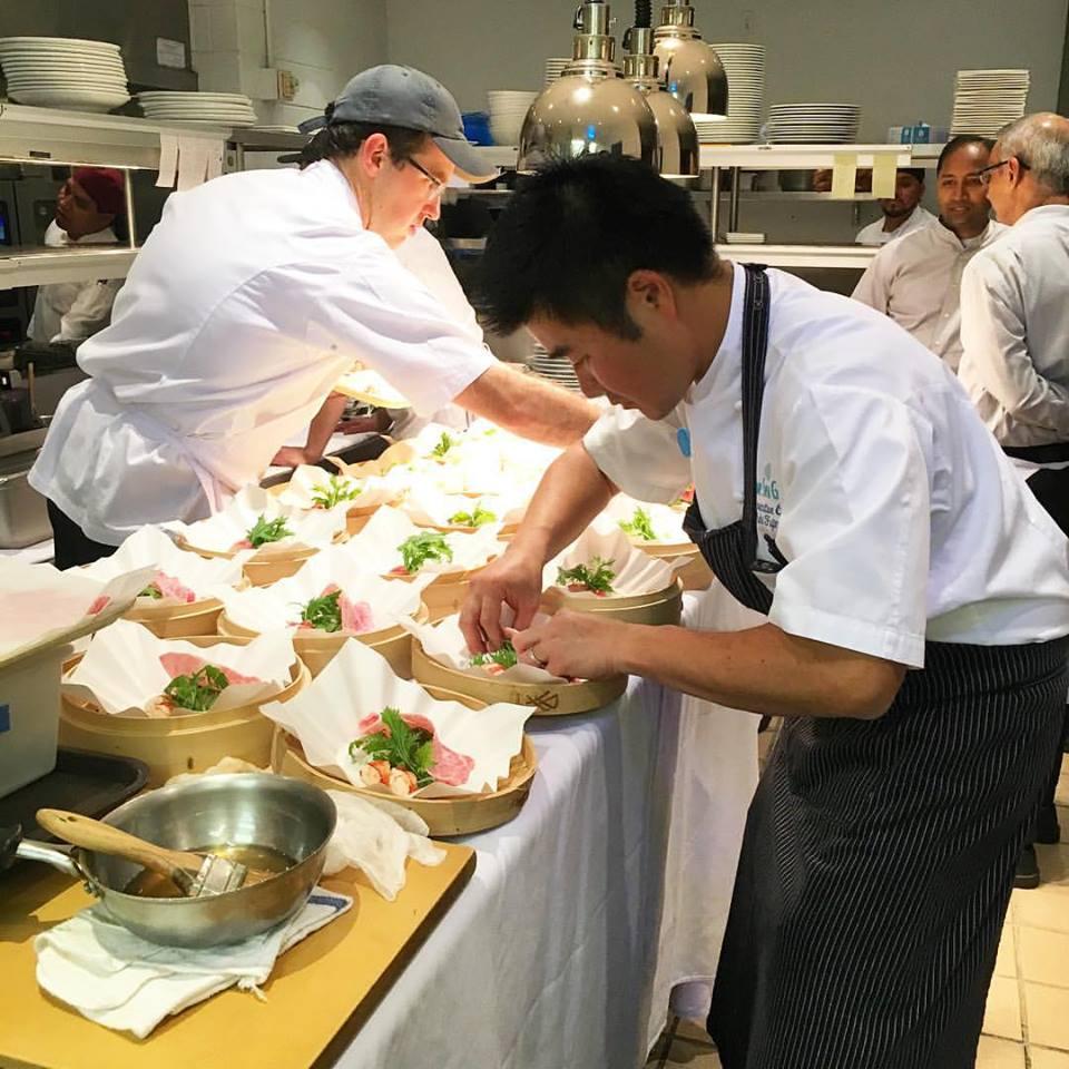 Chef Yuhi Fujinaga at The Sea Grill