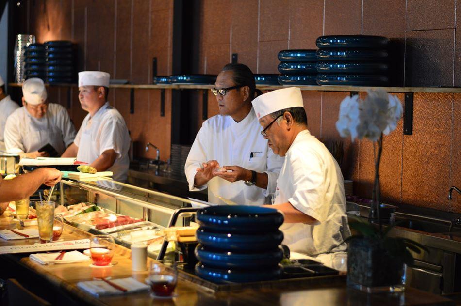 Chef Masaharu Morimoto and team at Morimoto Asia at Disney Springs