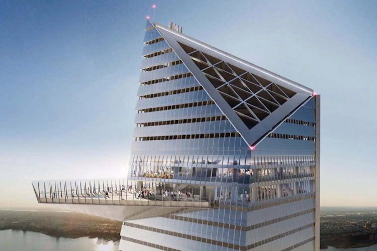 Rendering of lounge near the observation deck at Hudson Yards   Photo: Related Companies and Oxford Properties Group