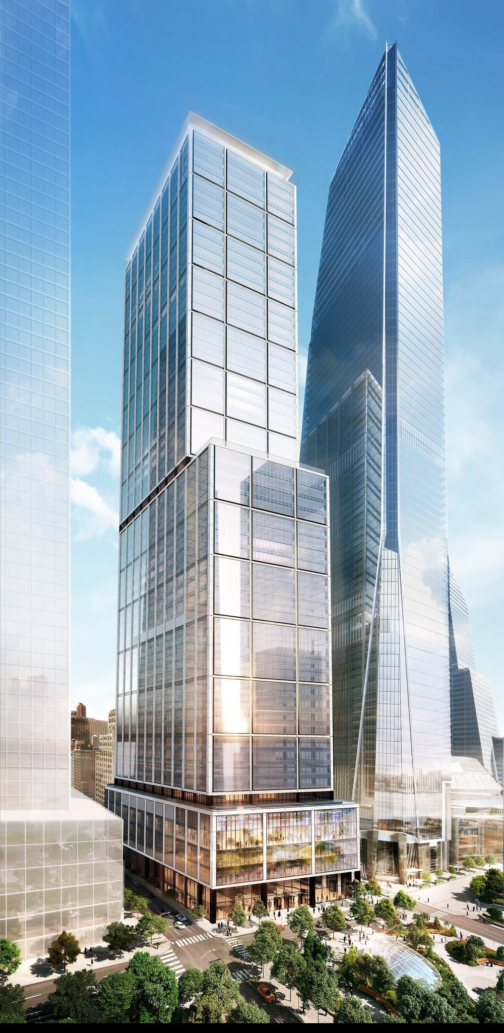 Renderings of Hudson Yards, NYC