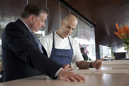 Patina Restaurant Group CEO Nick Valenti and Chef Jonathan Benno at Lincoln Ristorante