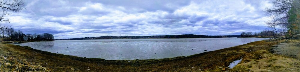 The Prescumpscot Estuary north of Portland, ME faces rising sea levels, threatening homes with inundation and erosion.