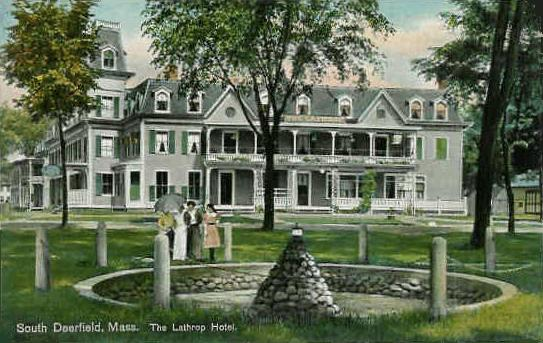 Historical postcard of the town common