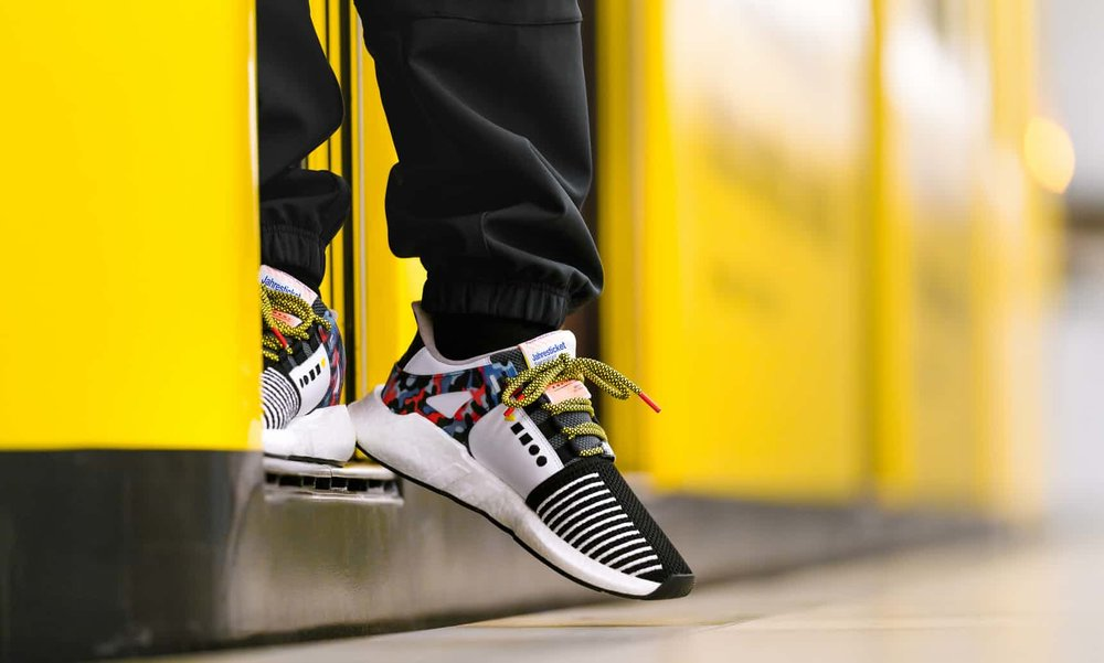 Adidas partnership with the Berlin metro...buy these sneaks, wear them on transit and ride free