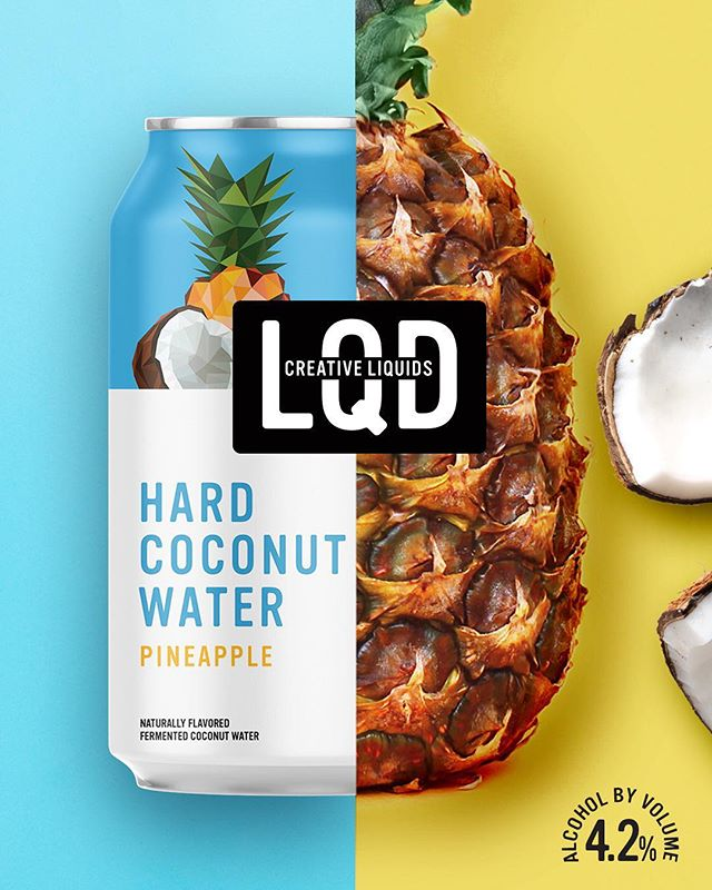 The fresh flavor of coconut water 🥥, bursting with the juicy tartness of ripe pineapple 🍍...like a tropical escape in a can. 🏖 . . . . . . #lqd #drinklqd #creativeliquids #natural #alcohol #fun #outdoor #party #friends #coconut #coconuts #coconutwater #pineapple #pineapples #greentea #tea #passionfruit #peach #shake #shakeitup #vibrant #color #colorful #love  #bestofpackaging #packagedesign #candesign #fermentation #healthyish #healthyish