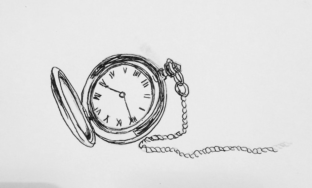 Example of my drawing images to project- pocket watch