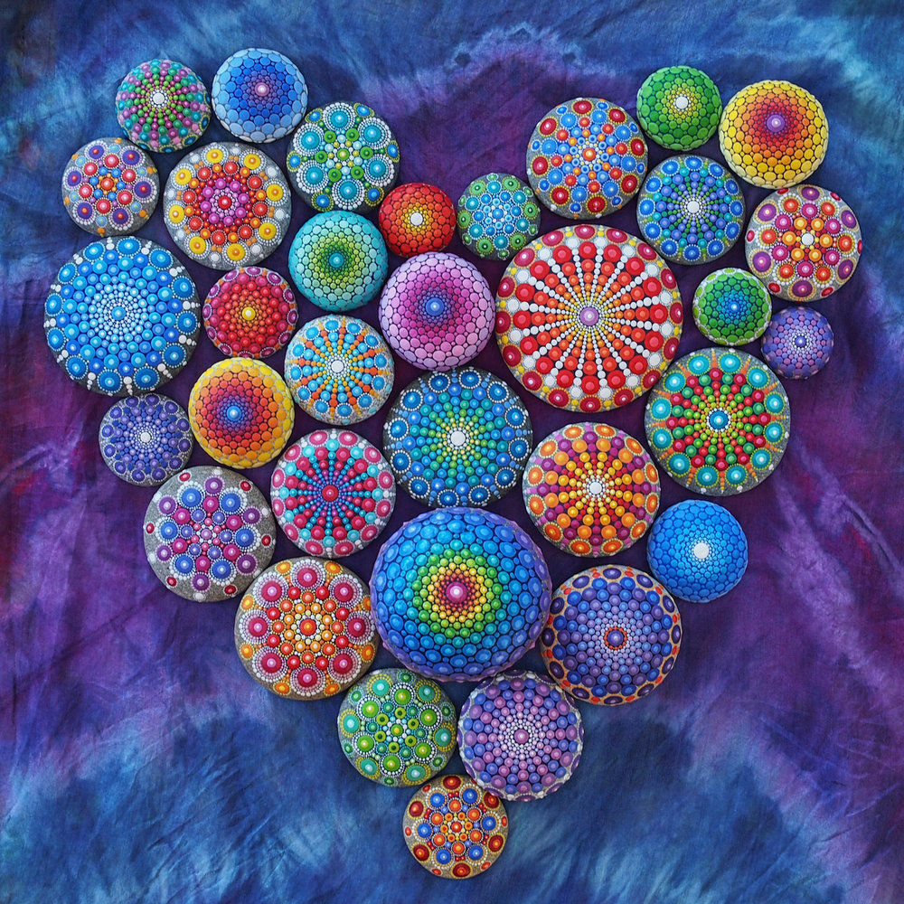 Mandala Stones Heart
