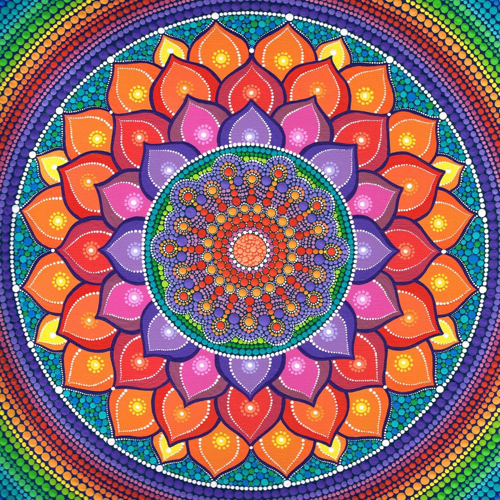 Lotus Mandala Rainbow