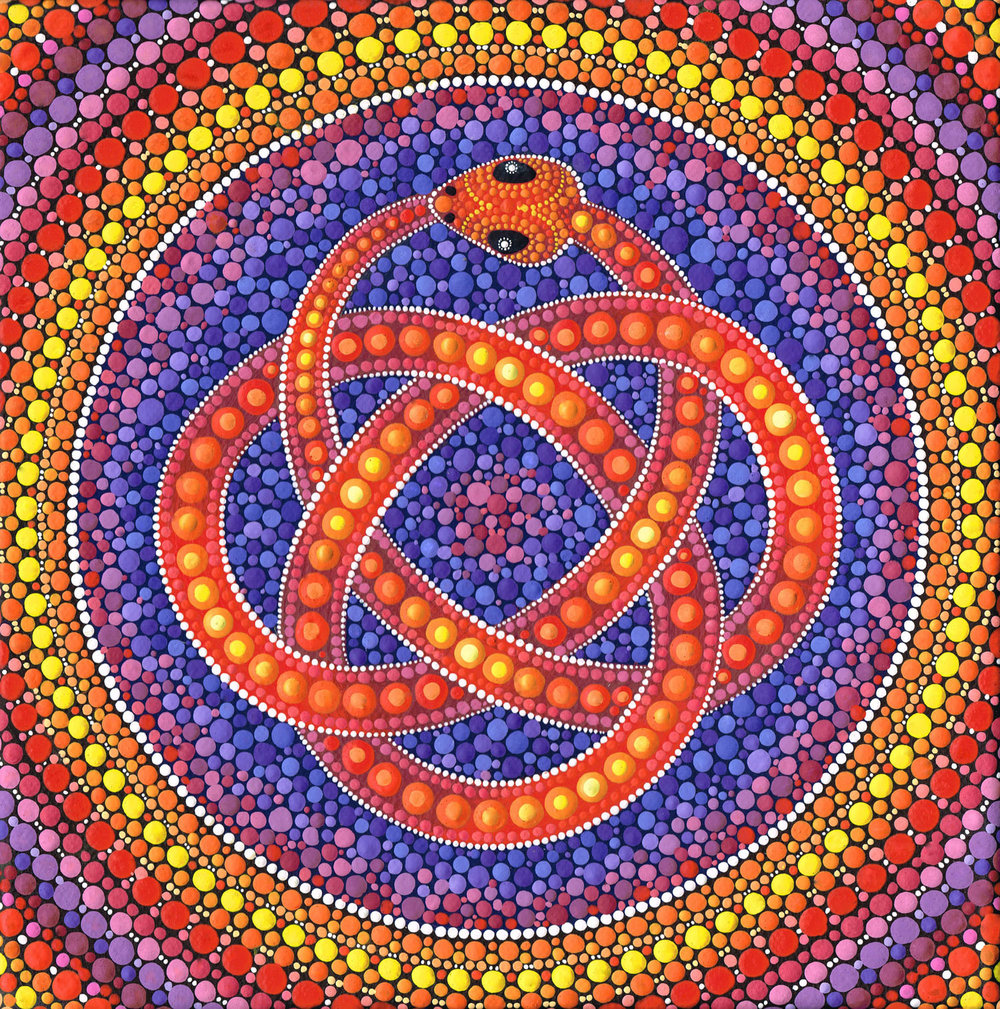 Red Ouroboros Celtic Snake