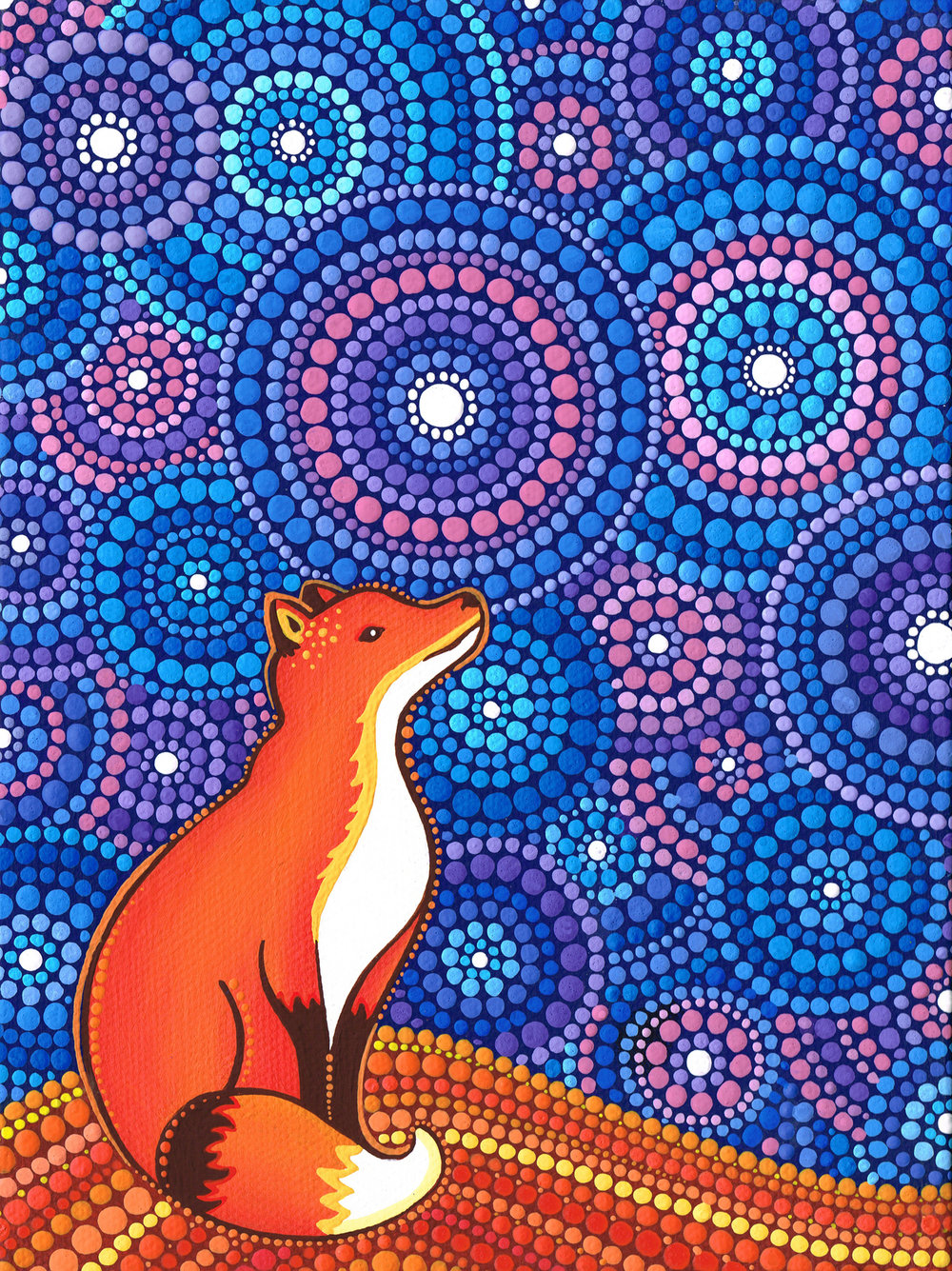 Star Gazing Fox