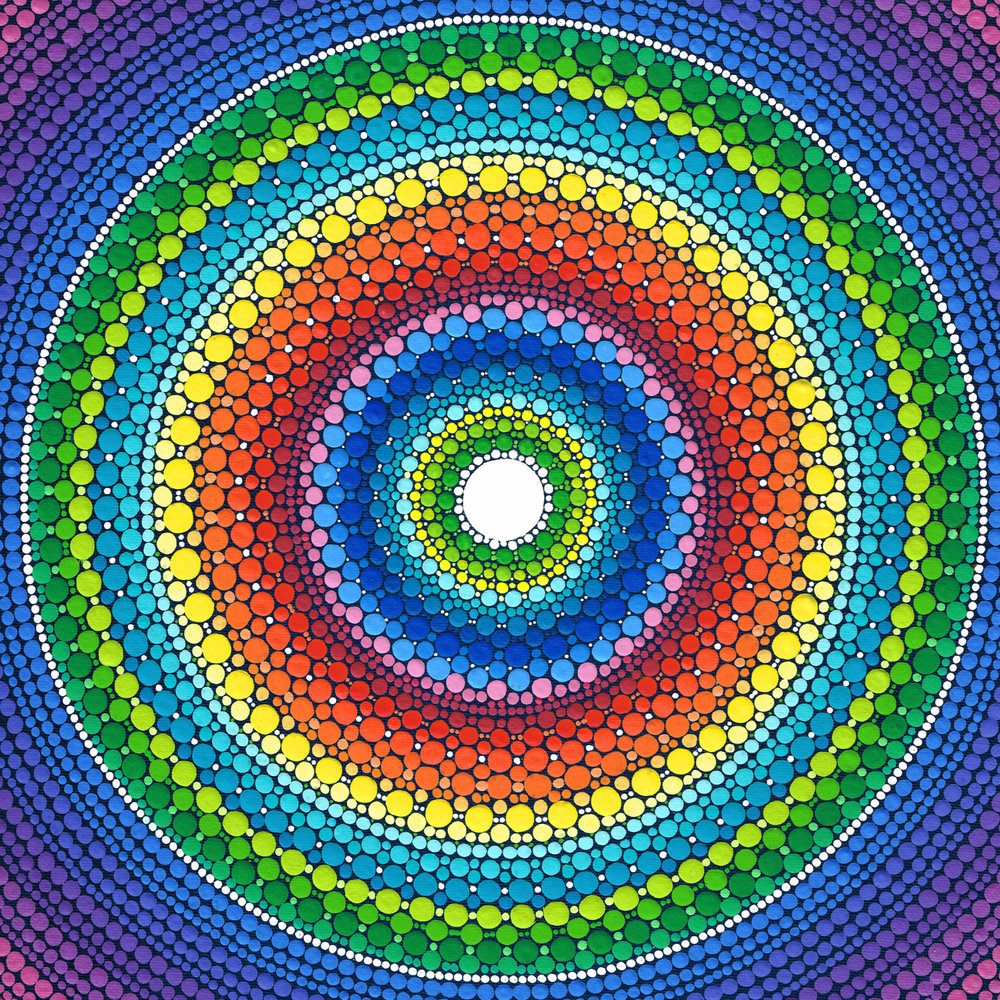 Happy Rainbow Mandala