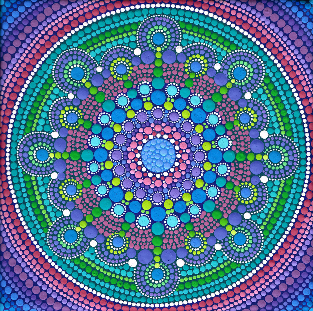 Cool Tone Drop Mandala