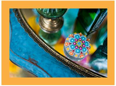 Colorful Mandala Stones | Elspeth McLean