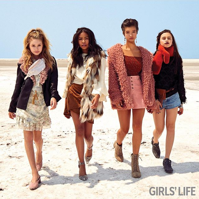 TUESDAY MOOD⚡️Oct/Nov issue of @girlslifemag is on newsstands today !! follow @girlslifemag & go get yours to see some more pics of me & these talented girls !! #girlslifemag ☆