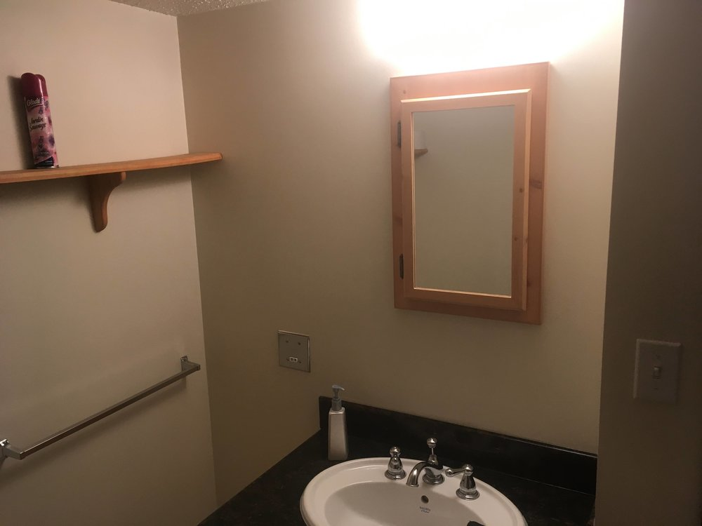 Bathroom renovation in a Kimberley, BC ski resort condo - before.
