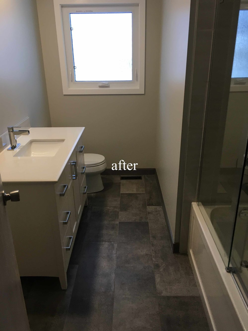Kimberley, BC bathroom renovation after picture.