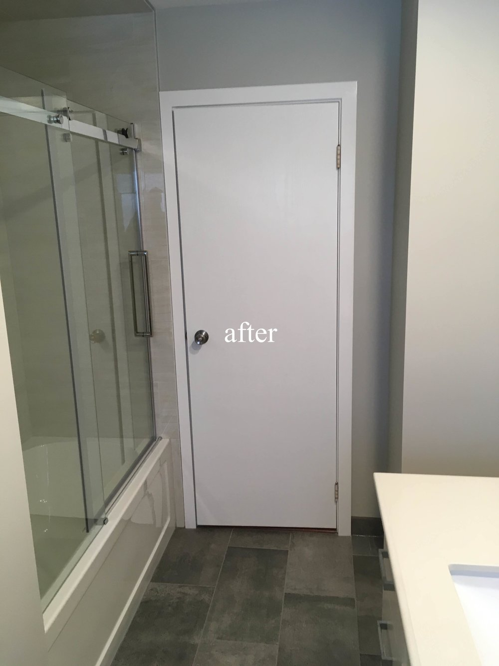 After a bathroom renovation in Kimberley, BC, East Kootenays.