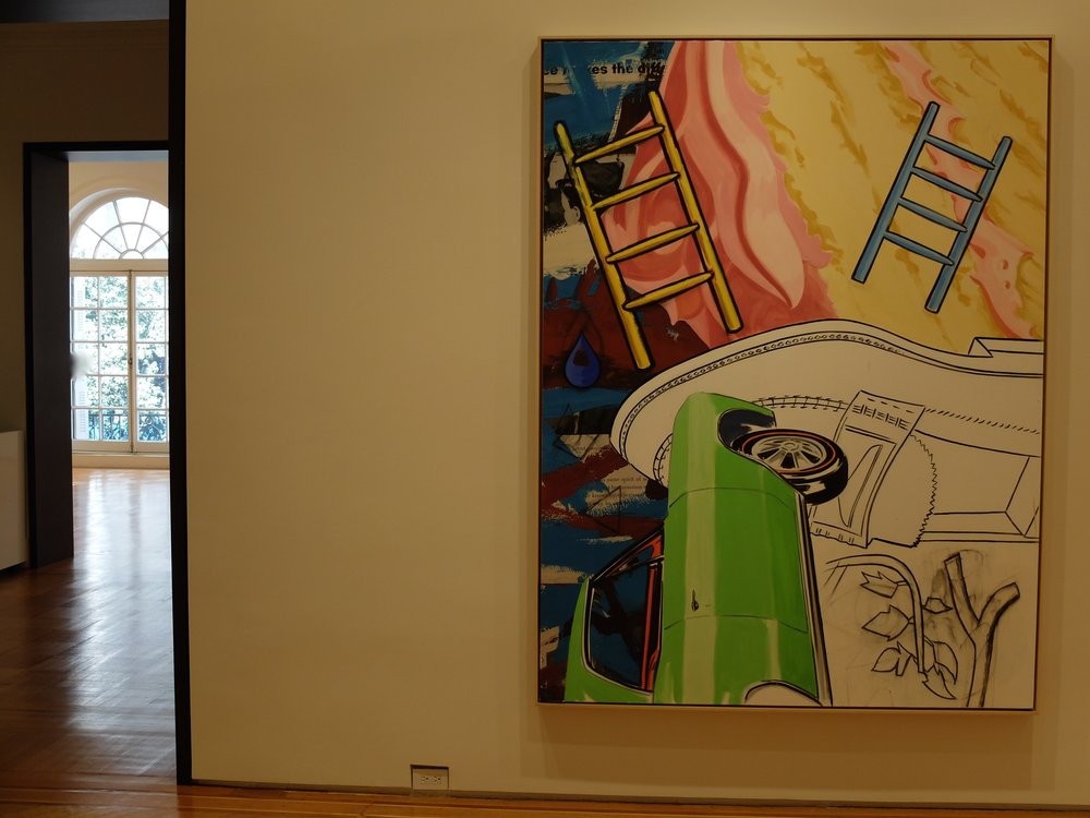 David Salle @ the Skarstedt Gallery - We were impressed by the building space but not the paintings.