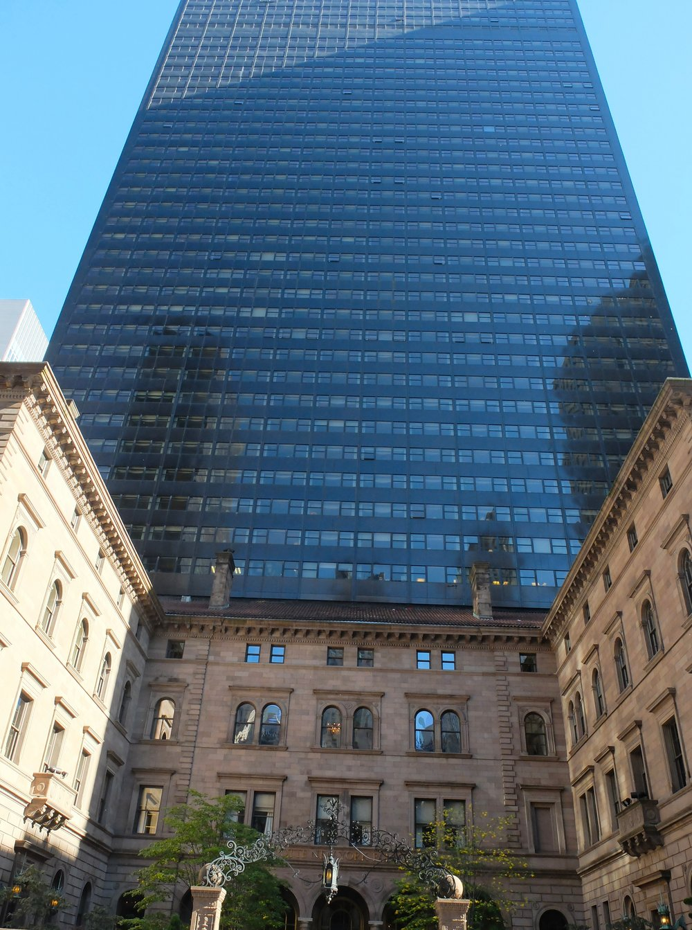Harry Hemsley had the 55 story tower built in 1974.  The courtyard is a lovely place for a martini.