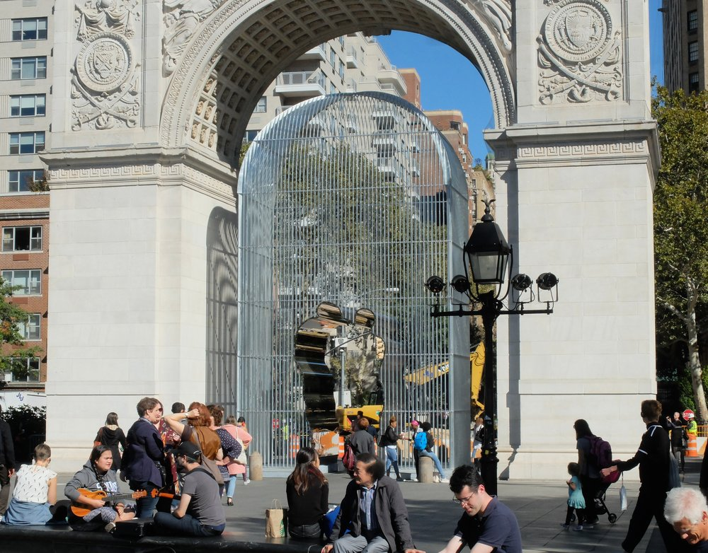 """The Arch"" - Ai Weiwei in Washington Sq. Park"