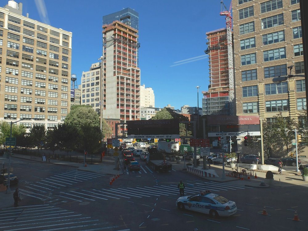 View from Nate's art studio window.  Entance to the Holland Tunnel.