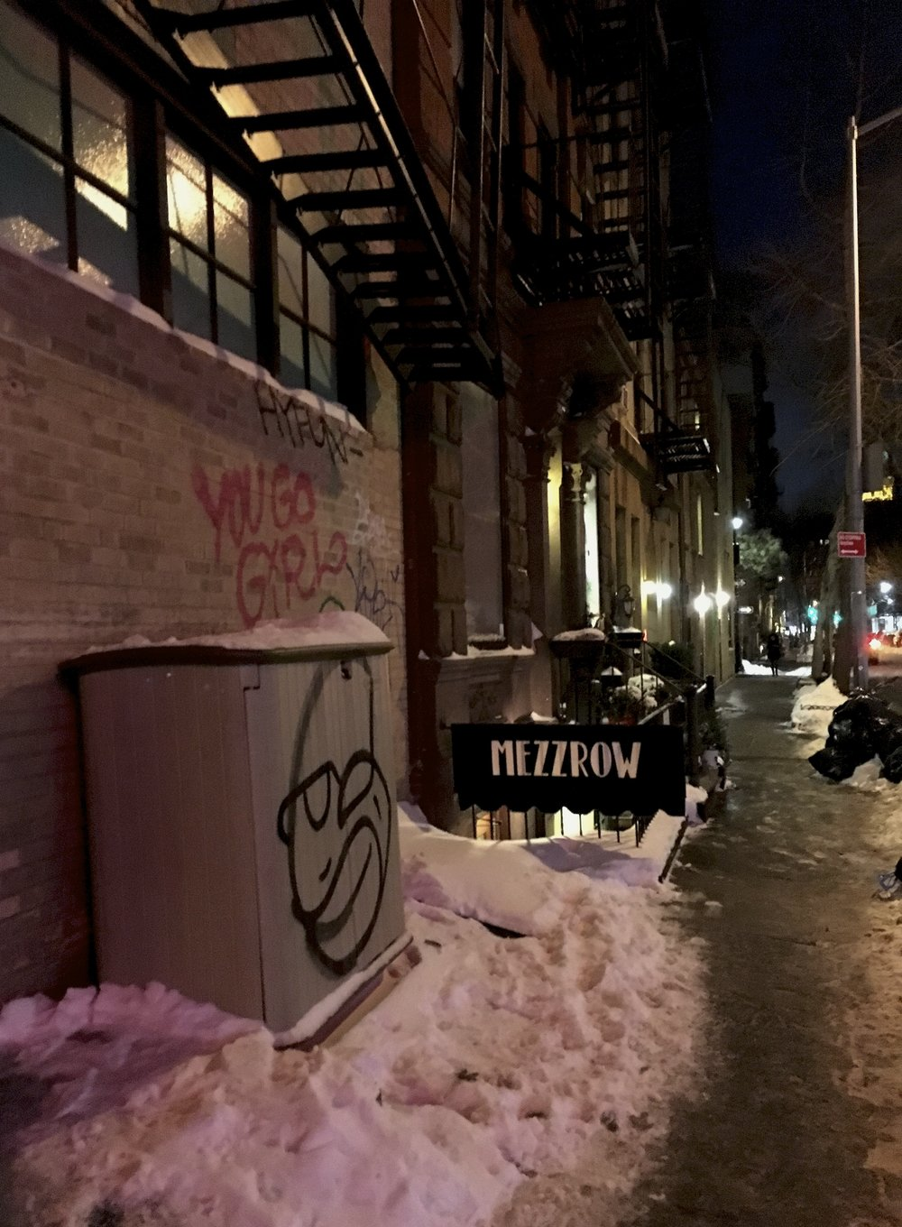"""MEZZROW is a jazz venue, a listening room and lounge in Greenwich Village located in the basement of 163 W. 10th St.  We are easy to miss so look carefully!"""