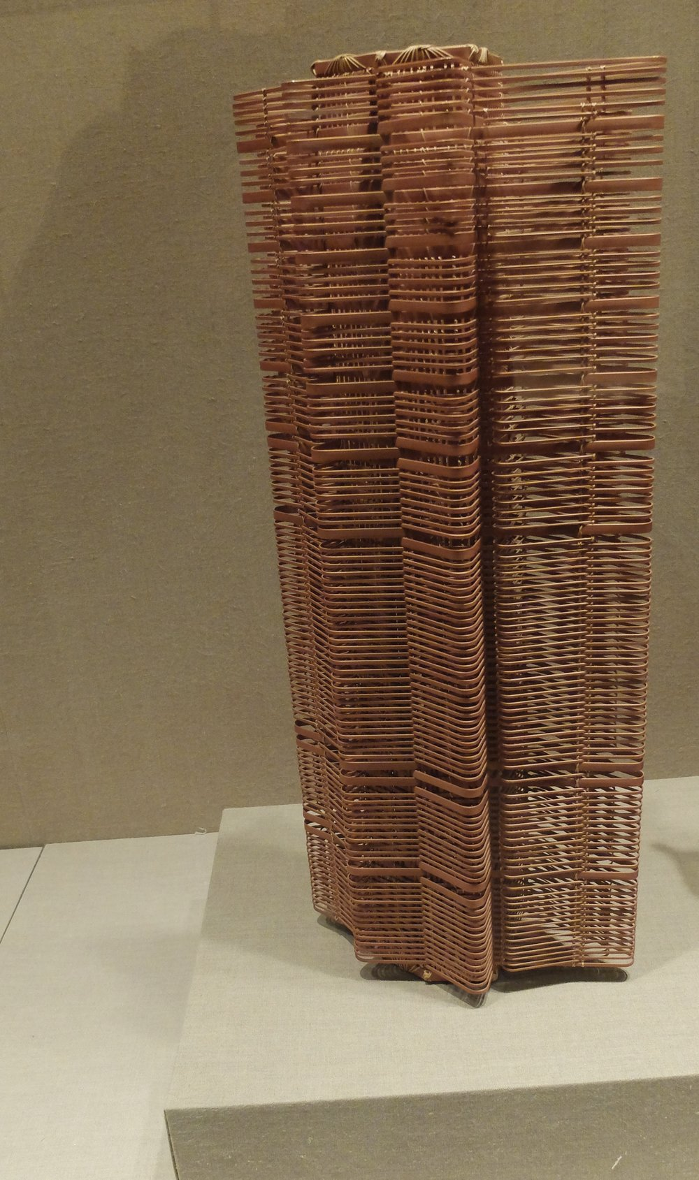 Skyscraper made of rattan, at The Met.