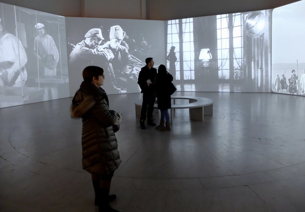 B'klyn Museum.   From Eisenstein's movies, running about one frame per 6 seconds. Exhibit along with Goya and...