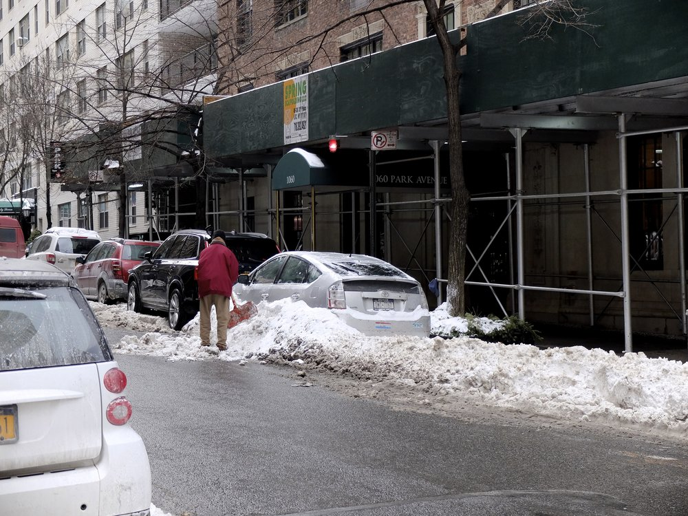Better get out before Alternate Side of the Street Parking Regulations are reinstated!