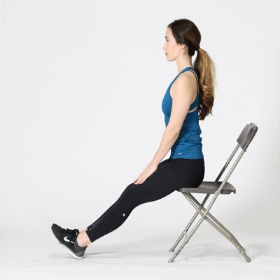 Starting in this position and stretching down your legs.