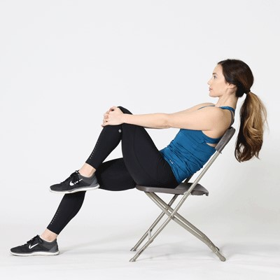 Alternate bringing your legs up to your chest.