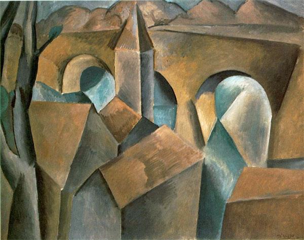 Landscape with a Bridge  (Picasso, 1909)