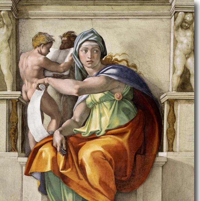 Delphic Sybil  (Michelangelo, 1509)