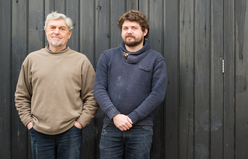 Tom Norton (right) explains how terroir and history are the two pillars upon which his Suffolk microbrewery is built. Photo:  Cherry Beesley .