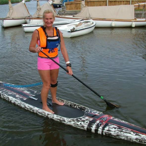 Joanne Hamilton-Vale - Founder of the UK SUP organization, distance runner, sailor, rower, wakeboarder, and two-time breast cancer survivor.