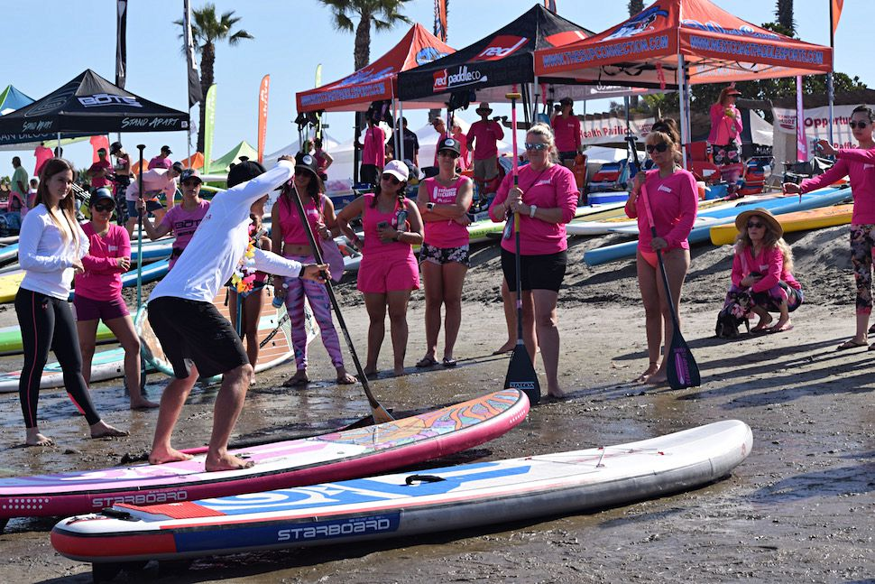 The day started with a SUP clinic from star paddler Zane Schweitzer.