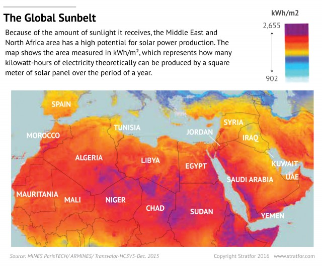 MENA-solar-energy-potential-map