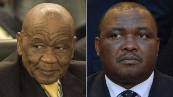Prime Minister Thomas Thabane (left) and Mothetjoa Metsing (right)