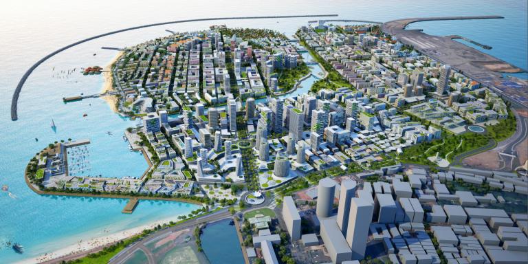 The planned Hambantota port city and prospective world financial hub