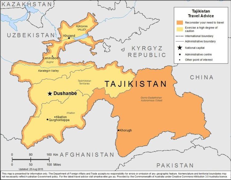 tajikistan danger map