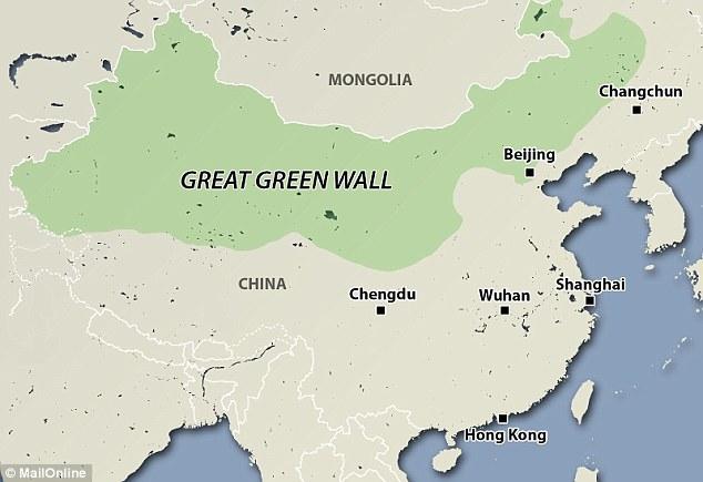 great green wall china