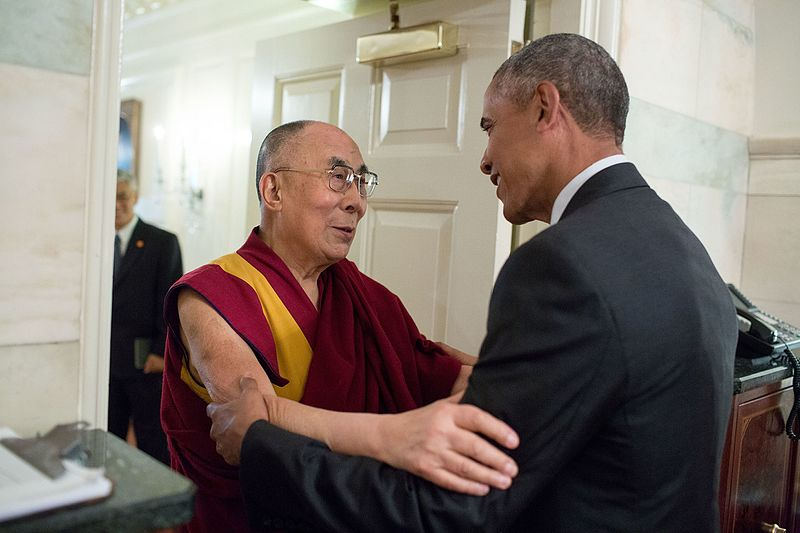 The Dalai Lama meets with President Barack Obama at the White House, June 15th, 2016