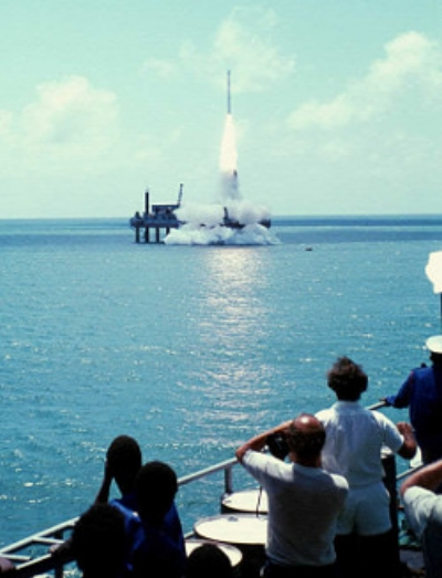 Lift off from San Marco, 1974. Source: NASA