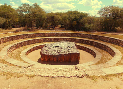 The Hoba meteorite in Namibia is the largest ever found