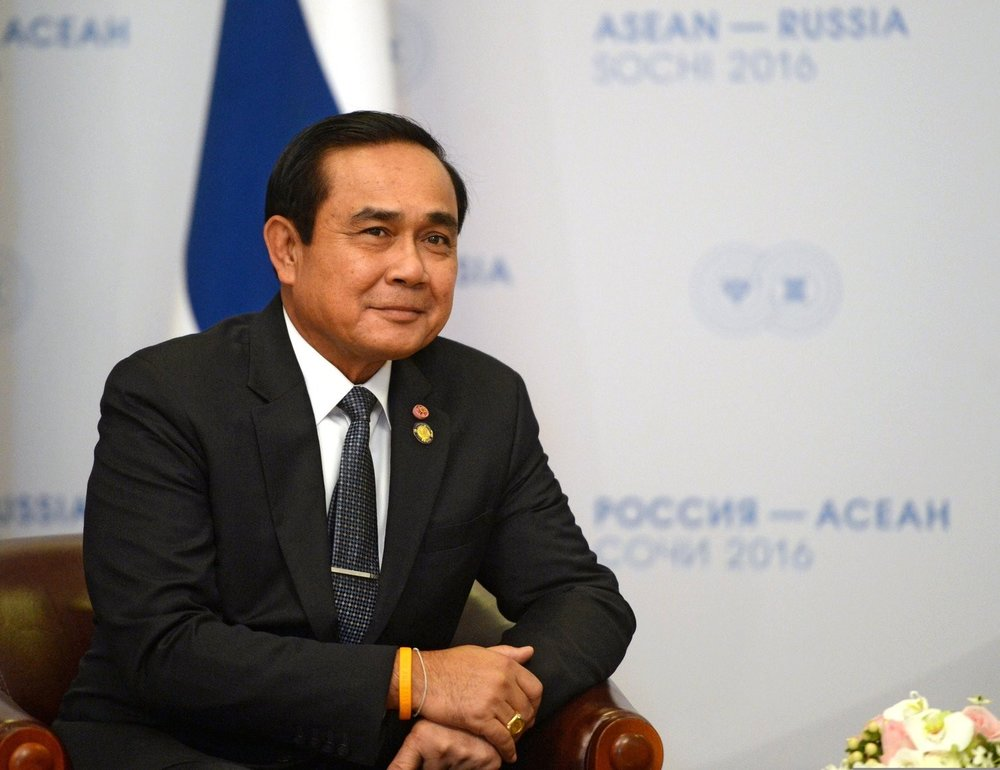 Party to the monastic in-fighting: Thailand's Prime Minister, Prayuth Chan-o-Cha