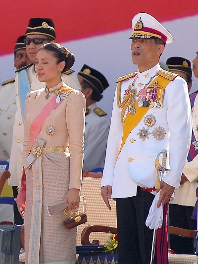 King Rama X, (as crown prince) pictured at a 2007 ceremony