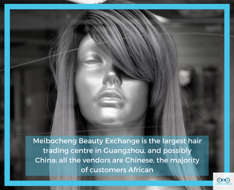 Meibocheng Beauty Exchange is the largest hair trading centre in Guangzhou, and possibly China; all the vendors are Chinese, the majority of customers are African.png